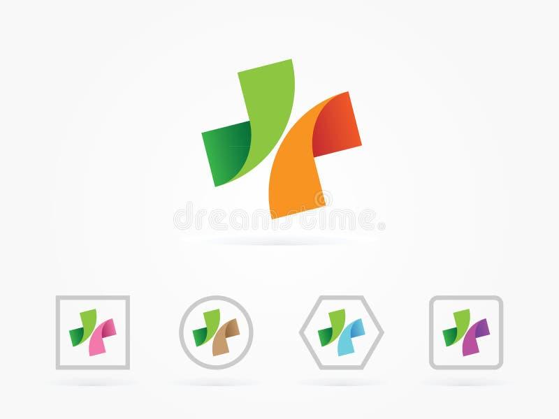 Logotipo médico da ilustração do vetor fotografia de stock royalty free