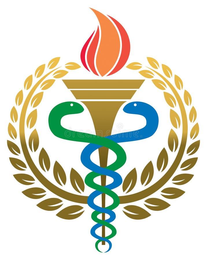 Logotipo médico da medicina ilustração do vetor