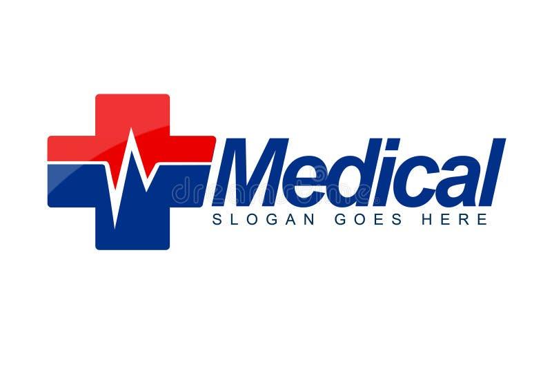 Logotipo médico da pulsação do coração ilustração stock