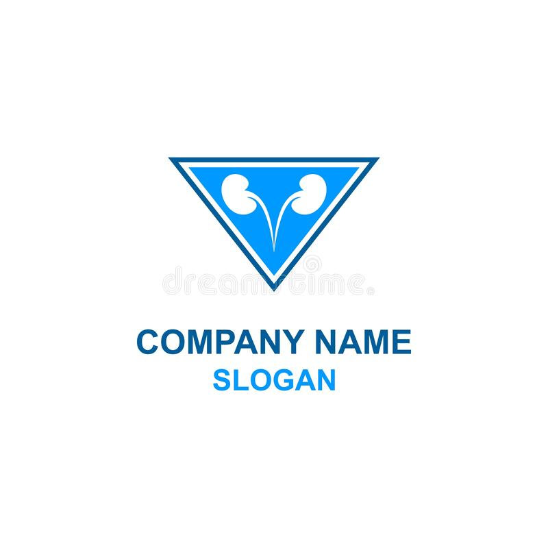 Logotipo m?dico da urologia ilustração stock