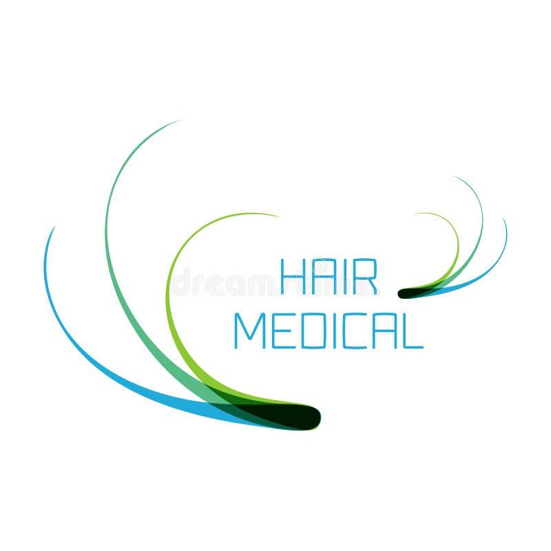 Logotipo médico do cabelo ilustração stock