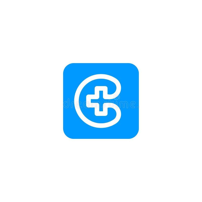 Logotipo médico do telefone ilustração stock