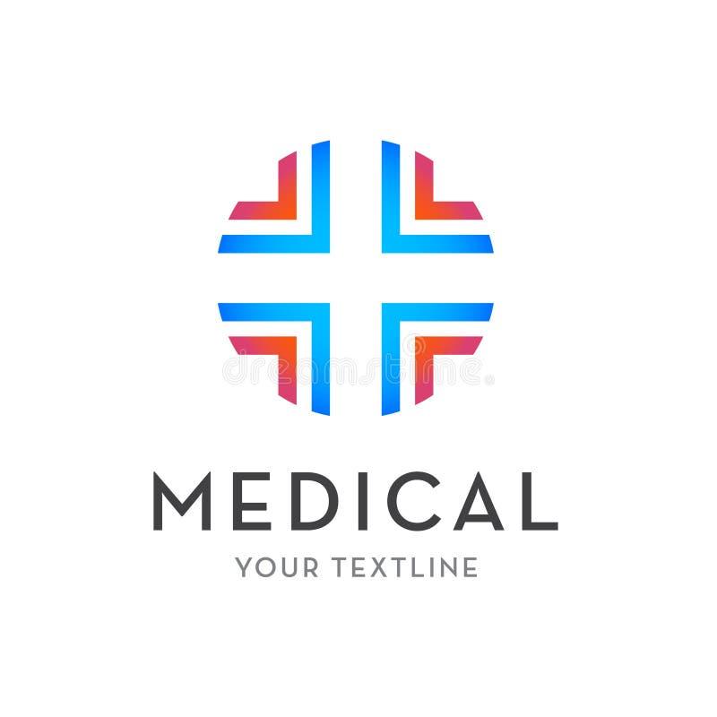 Logotipo médico do vetor - cruz isolada ilustração do vetor