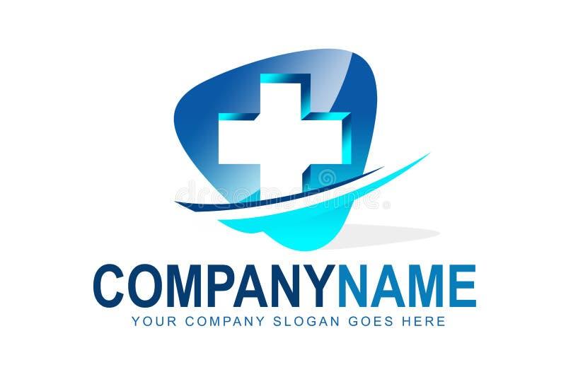 Logotipo médico dos cuidados médicos ilustração do vetor