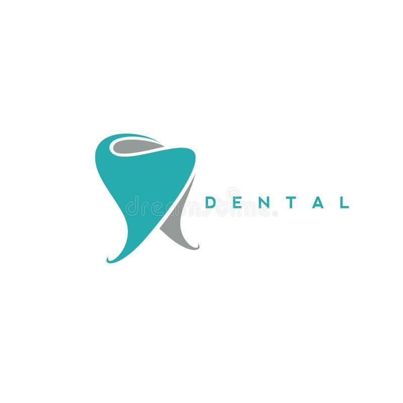 Logotipo mínimo del ejemplo dental del vector del símbolo ilustración del vector