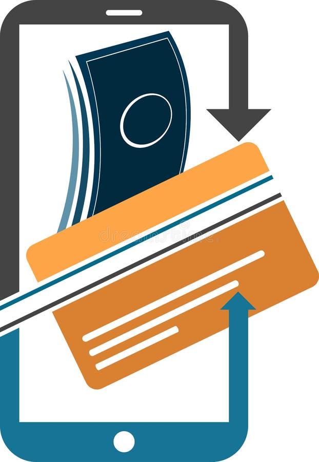 Logotipo móvel do pagamento ilustração stock