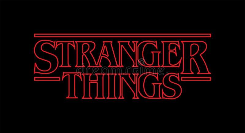 Logotipo mais estranho do vetor das coisas