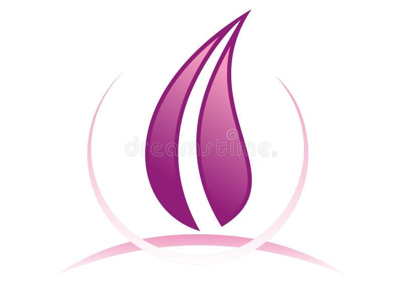 Logotipo malva ilustração stock