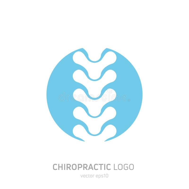 Logotipo manual da terapia Quiroterapia e a outra medicina alternativa ilustração royalty free