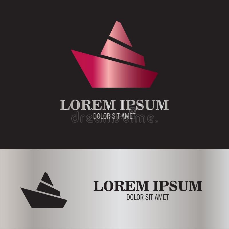 Logotipo marino abstracto fotos de archivo