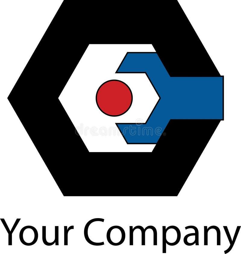 Logotipo mecánico simple foto de archivo libre de regalías