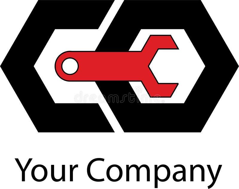 Logotipo mecánico simple fotos de archivo libres de regalías