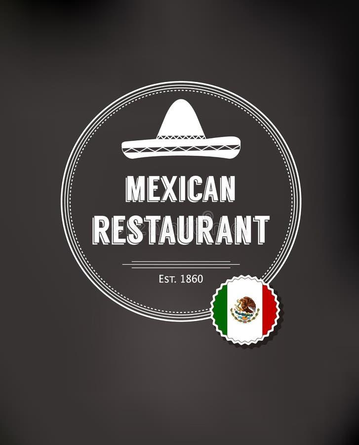 Logotipo mexicano do restaurante ilustração royalty free