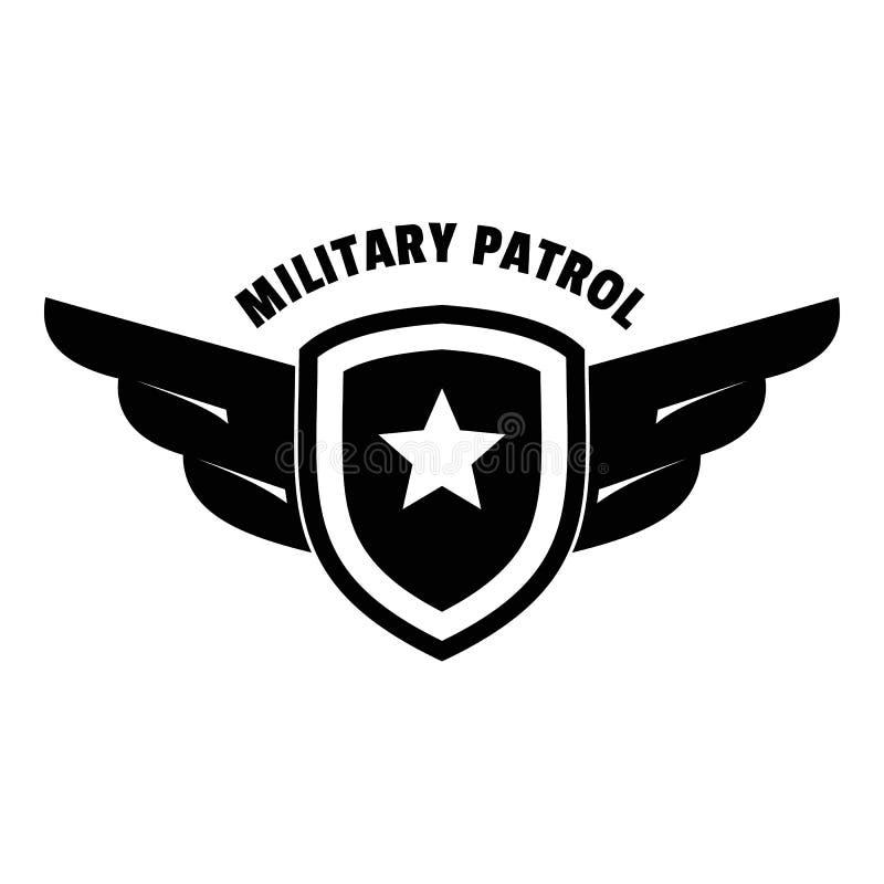 Logotipo militar de la patrulla del ejército, estilo simple ilustración del vector