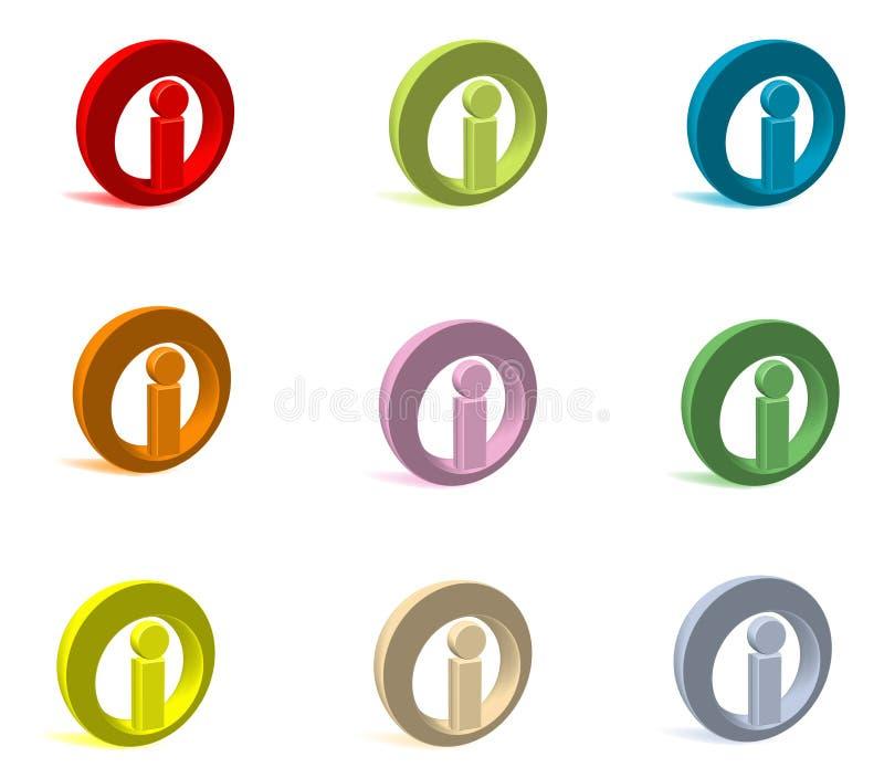 Logotipo mim 3d ilustração royalty free