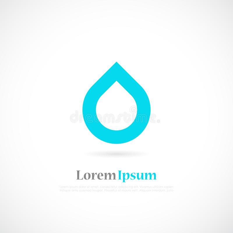 Logotipo minimalistic do vetor da água ilustração do vetor