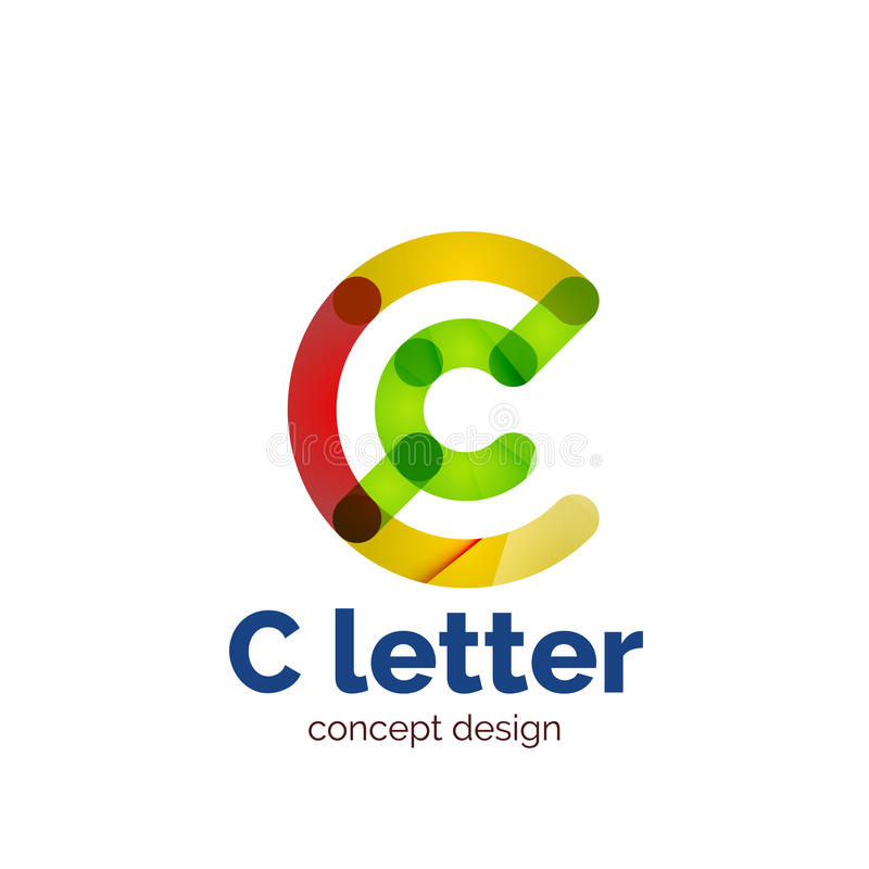 Logotipo minimalistic moderno del concepto de la letra del vector stock de ilustración