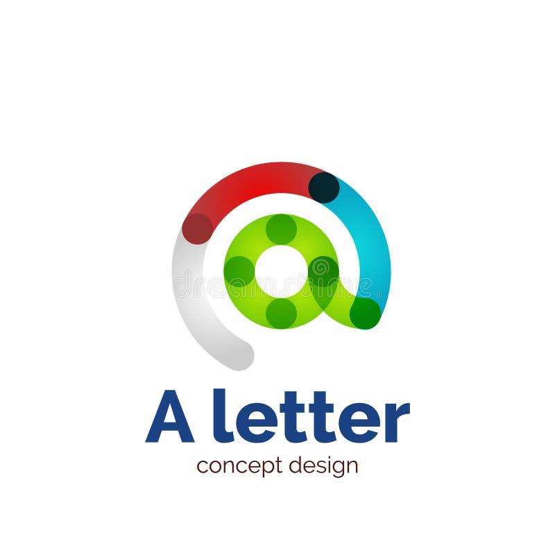 Logotipo minimalistic moderno do conceito da letra do vetor ilustração royalty free