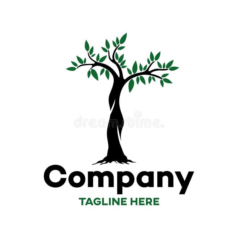 Logotipo moderno da árvore e da natureza ilustração stock