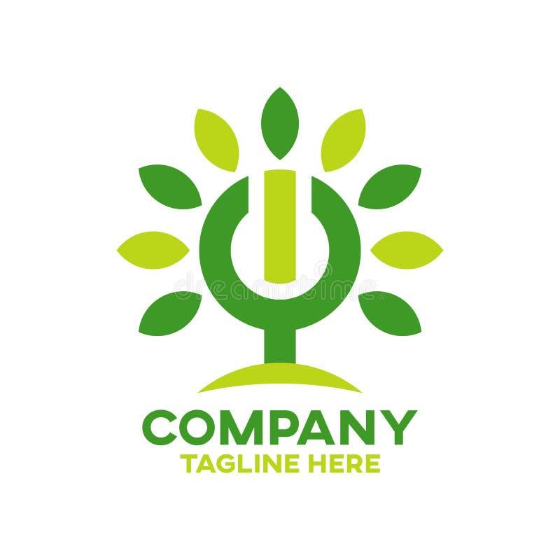 Logotipo moderno da árvore da energia ilustração royalty free