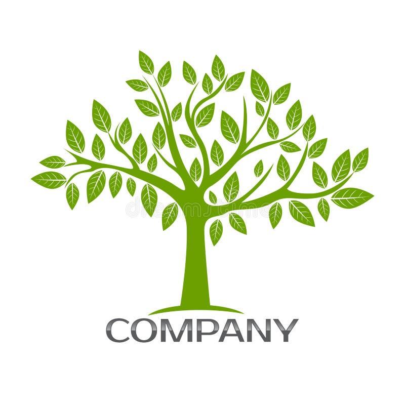Logotipo moderno da árvore Ilustração do vetor ilustração stock