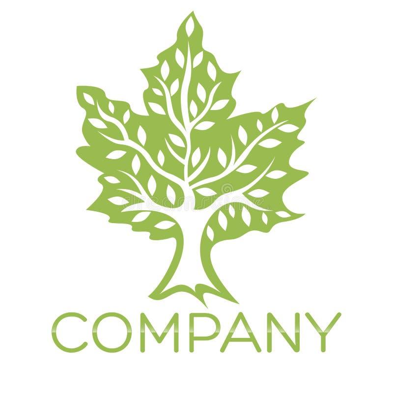 Logotipo moderno da árvore Ilustração do vetor ilustração do vetor