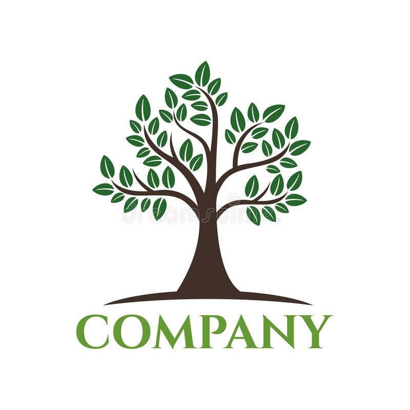 Logotipo moderno da árvore Ilustração do vetor ilustração royalty free