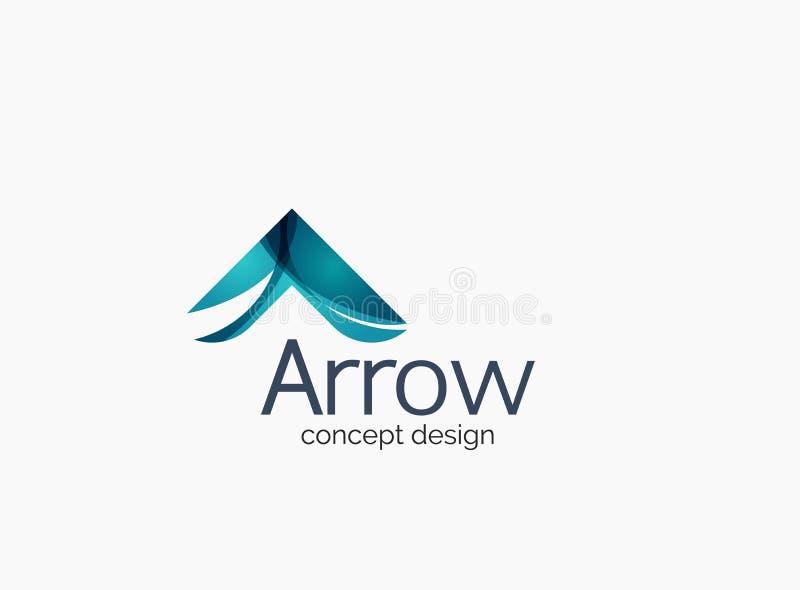 Logotipo moderno da empresa, projeto lustroso limpo ilustração do vetor