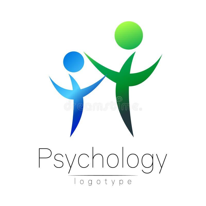 Logotipo moderno da libra por polegada quadrada dos povos da psicologia Ser humano da família Estilo creativo Logotype no vetor C ilustração stock
