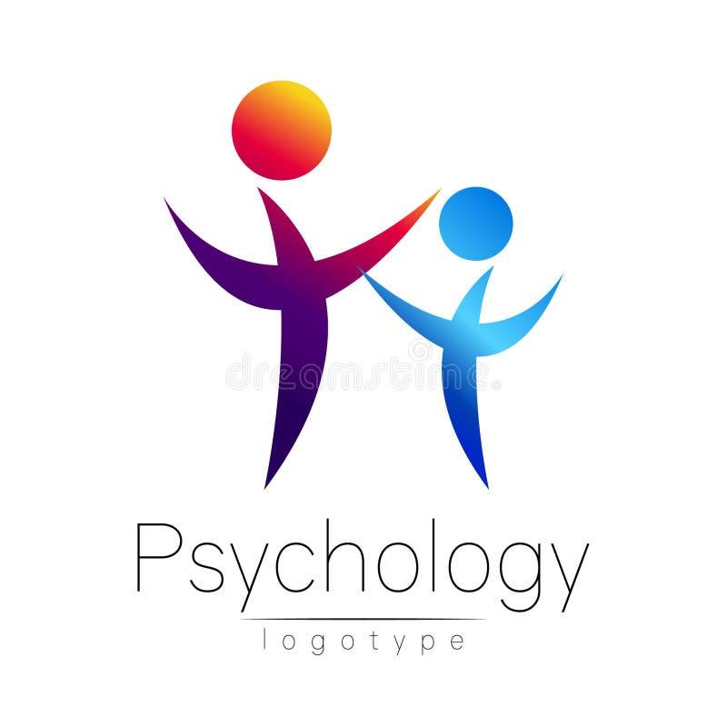 Logotipo moderno da libra por polegada quadrada dos povos da psicologia Ser humano da família Estilo creativo Logotype no vetor C ilustração royalty free