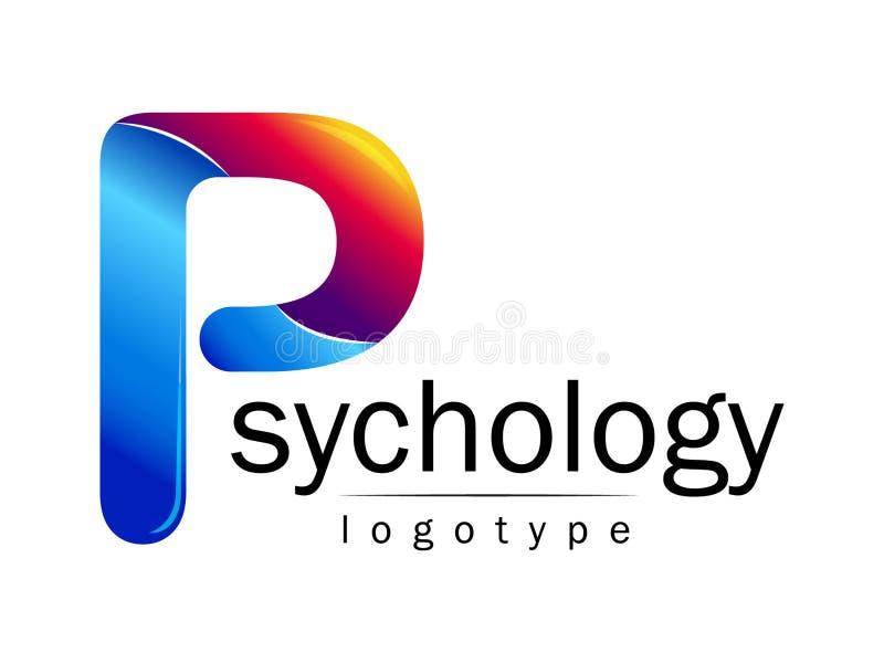Logotipo moderno da psicologia Estilo creativo Logotype no vetor Conceito de projeto ilustração stock