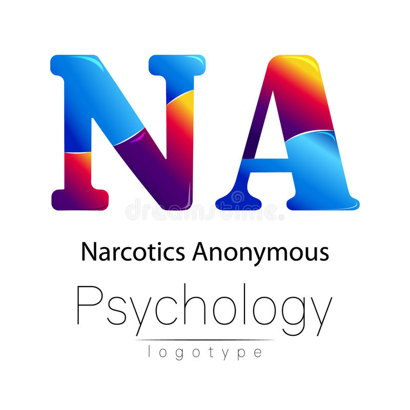 Logotipo moderno da psicologia Estilo creativo Logotype no vetor Conceito de projeto Empresa do tipo Letra da cor azul e vermelha ilustração do vetor