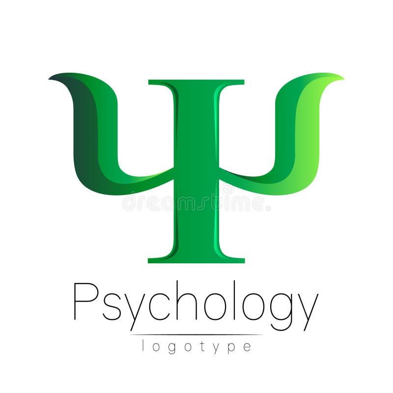 Logotipo moderno da psicologia psi Estilo creativo Logotype no vetor ilustração do vetor