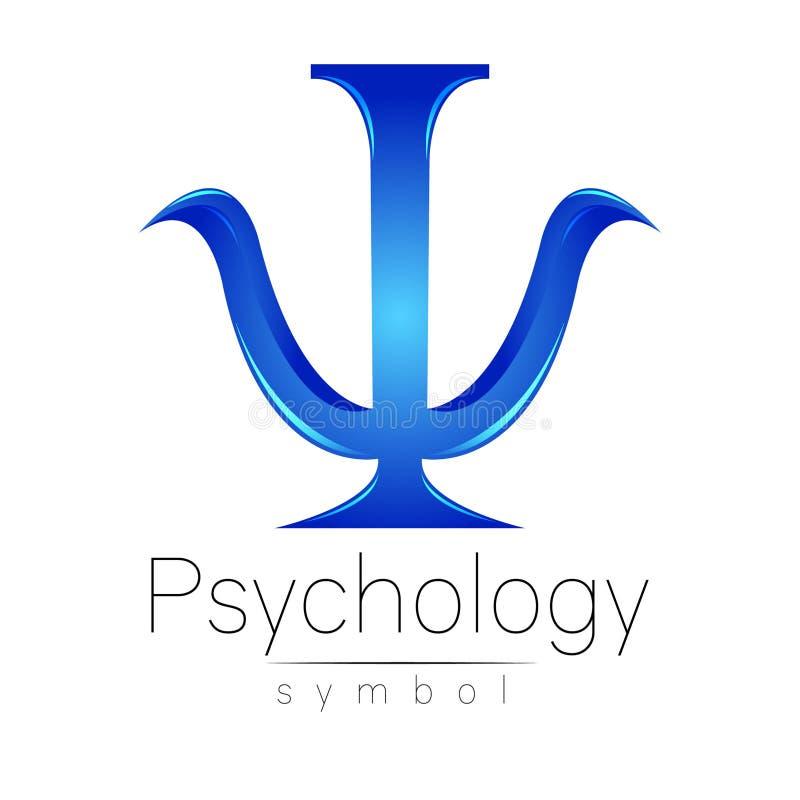 Logotipo moderno da psicologia psi Estilo creativo Logotype no vetor ilustração royalty free