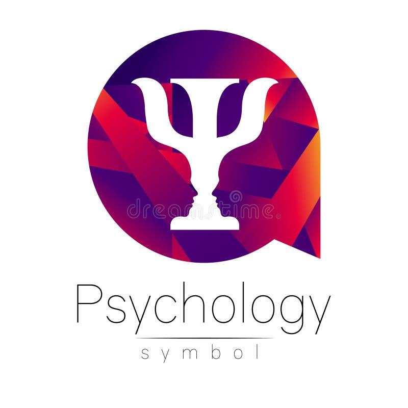 Logotipo moderno da psicologia psi Estilo creativo Logotype no vetor Conceito de projeto ilustração stock