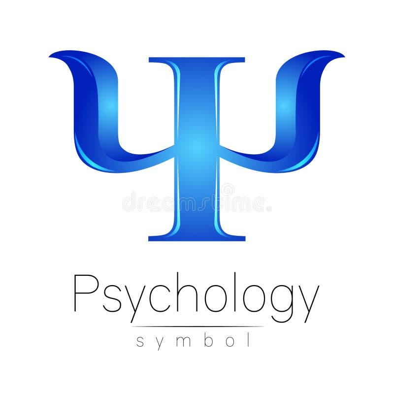 Logotipo moderno da psicologia psi Estilo creativo Logotype no vetor Conceito de projeto ilustração do vetor