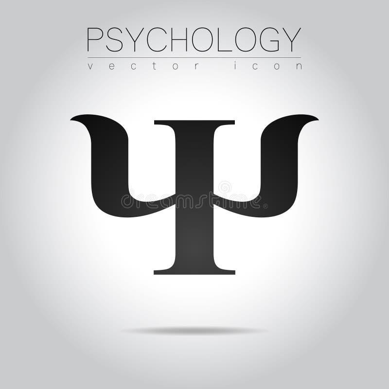 Logotipo moderno da psicologia psi Estilo creativo Logotype no vetor Conceito de projeto ilustração royalty free