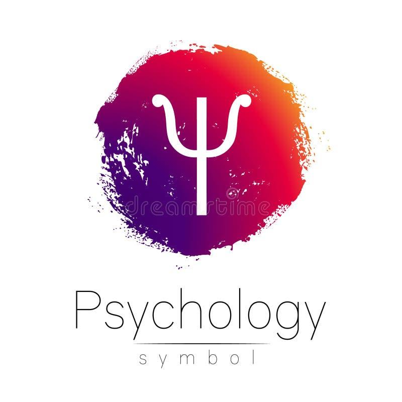 Logotipo moderno da psicologia psi Estilo creativo Logotype no vetor Conceito de projeto Empresa do tipo Mancha cor-de-rosa da co ilustração royalty free