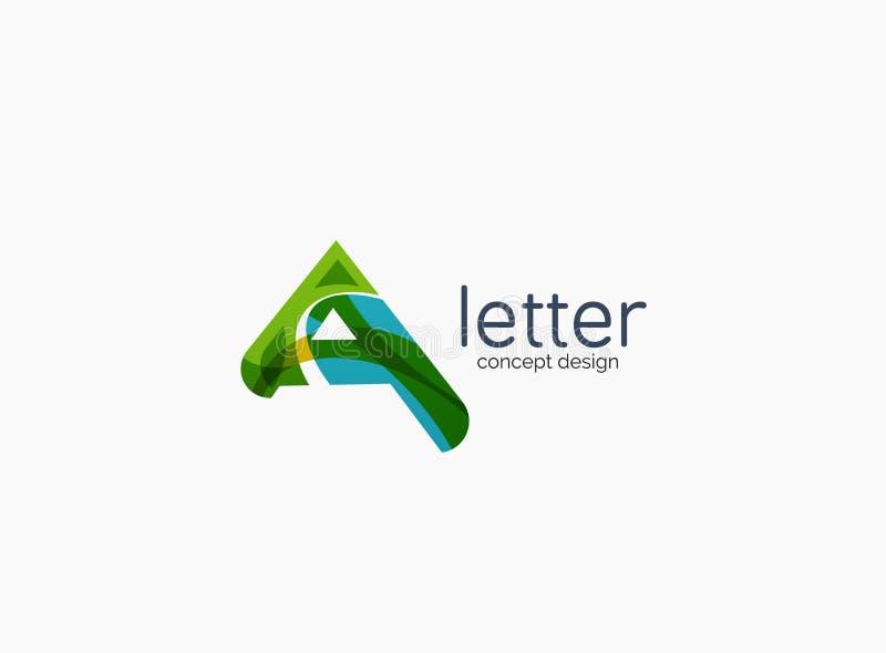 Logotipo moderno de la compañía de la letra de A libre illustration
