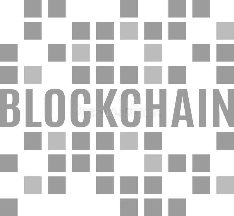 Logotipo moderno del blockchain ilustración del vector