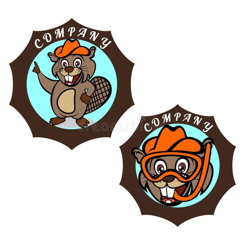Logotipo moderno del castor Ilustración del vector libre illustration