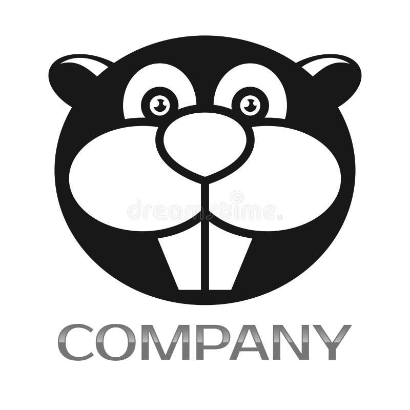 Logotipo moderno del castor Ilustración del vector stock de ilustración