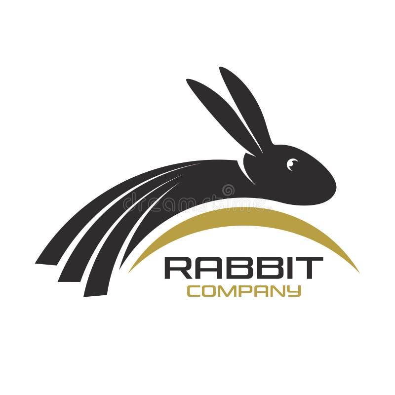 Logotipo moderno del conejo Ilustración del vector ilustración del vector