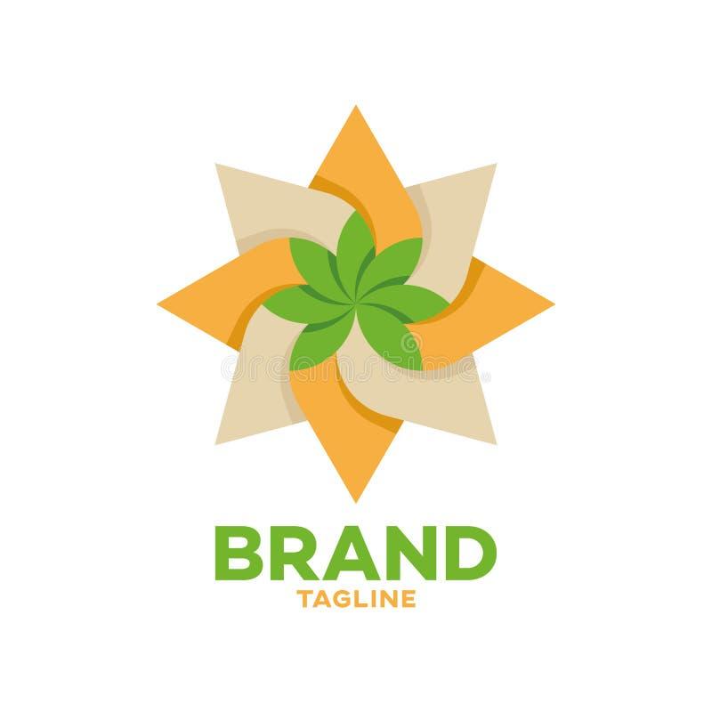 Logotipo moderno do cannabis e do óleo ilustração royalty free