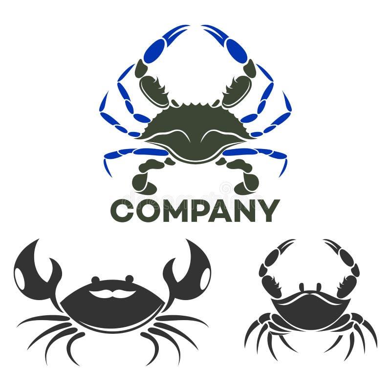Logotipo moderno do caranguejo Ilustração do vetor ilustração royalty free