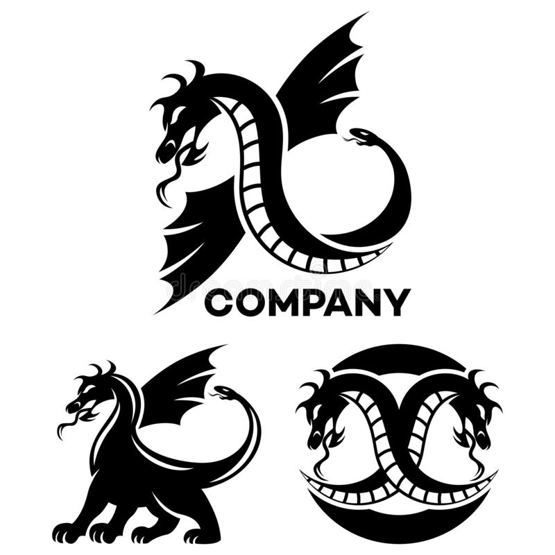 Logotipo moderno do dragão Ilustração do vetor ilustração stock