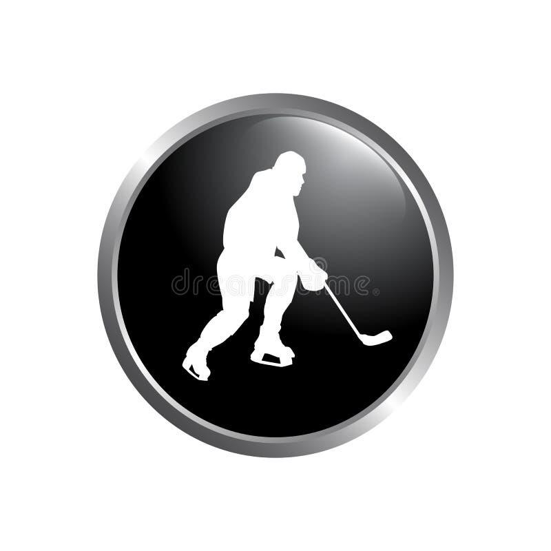 Logotipo moderno do hóquei do vetor Logotipo para a equipa de hóquei Silhueta da ilustração do vetor