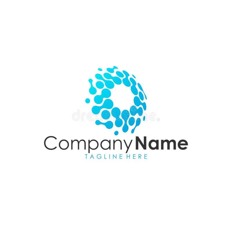 Logotipo moderno impressionante bonito, logotipo inteligente da tecnologia moderna ilustração stock