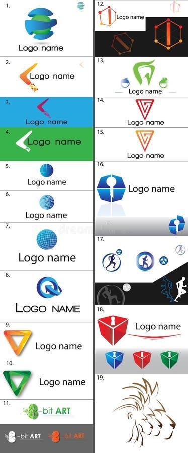 Logotipo moderno y potente fotos de archivo