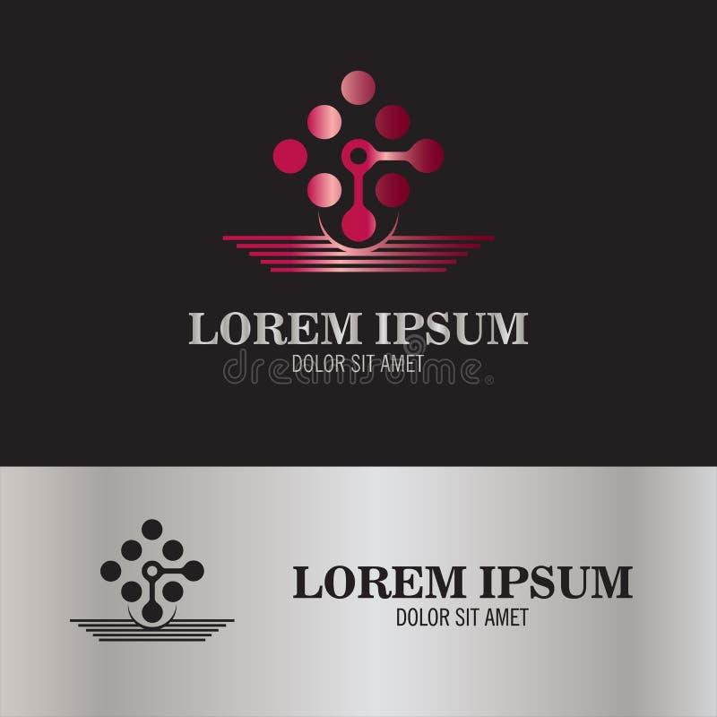 Logotipo molecular do símbolo ilustração royalty free